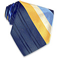 Click Here for More information or to Buy online Yellow and Blue Diagonal Stripes Woven Silk Tie