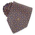 Click Here for More information or to Buy online Dark Blue-Gold Classic Silk Tie