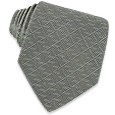Click Here for More information or to Buy online Gray Geometric Woven Silk Tie