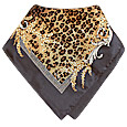 Click Here for More information or to Buy online Leopard Print Silk Square Scarf