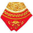 Click Here for More information or to Buy online Red & Gold Baroque Silk Bandana