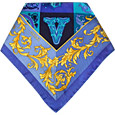 Click Here for More information or to Buy online Blue Ornamental Printed Silk Bandana