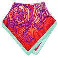 Click Here for More information or to Buy online Multi-color Flower Print Silk Bandana