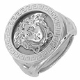 Click Here for More information or to Buy online Medusa - Men's Engraved Round White Gold Ring