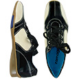 Click Here for More information or to Buy online Black Patent Leather Two-tone Sneaker