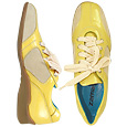 Click Here for More information or to Buy online Yellow Patent Leather Two-tone Sneaker