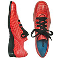 More information or Buy online Red Pyhton-embossed Leather Sneaker Shoes