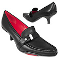 More information or Buy online Black Front Strap Leather Pump Shoes
