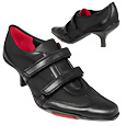 More information or Buy online Black Leather & Microfiber Velcro Straps Pump Shoes