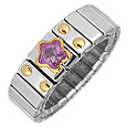 Click Here for More information or to Buy online Stainless Steel and Gold Amethyst Star Ring